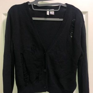 H&M Divided Distressed Cardigan